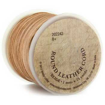 Round Leather Cord Spool